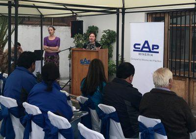 Carolina Julia, Jefa de Relacionamiento Comunitario de la Compañía Minera del Pacífico, Programa de Desarrollo de Proveedores en Huasco.